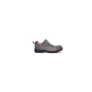 Sapato Rubidio em camurça cinza S1P SRC c/ rede lateral 3D