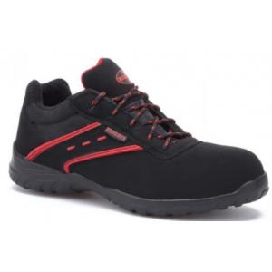 Sapato Paredes Actinio S3 preto c/enc. vermelhos microfibra.