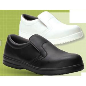 Sapato S2 seg. microfibra Mocassin s/cordoes Branco.ou Preto