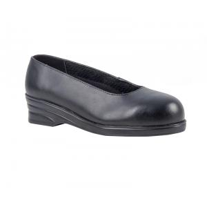 Sapato de Senhora Court S1 com biqueira de protecçao.