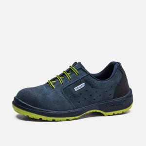 Sapato Perfurado cinza ACEBO Robusta,camurça, biq+pal. S1P