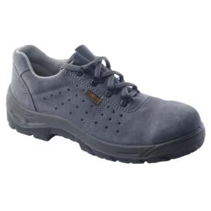 Sapato Perfurado Camurça Cinza S1P, c/Palmilha/ Biqueira Aço
