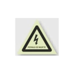 Placa Metálica com sinalização de Perigo de morte, 150*150