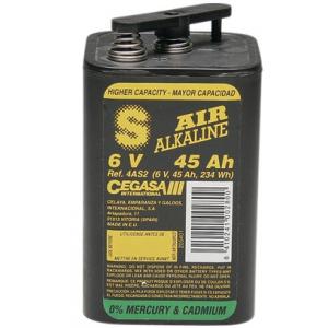 Baterias 6 volts 45 amperes p/lanternas maxilite (7 x+ dur.)