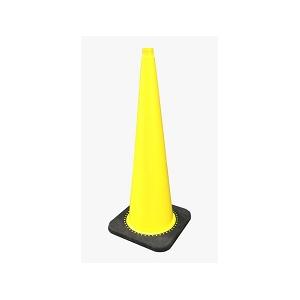Cone de sinalização em PVC amarelo s/ reflectores. Alt:900mm
