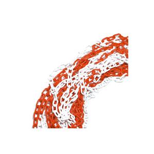 Corrente Plástica Vermelha Branca 6mm p/ mts (emb 25mts)