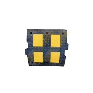 Redutor de velocidade preto c/ faixas amarelas, 500x500x60mm