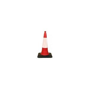 Cone de Sinalização de 2 peças c/ 50 cm e banda reflectora
