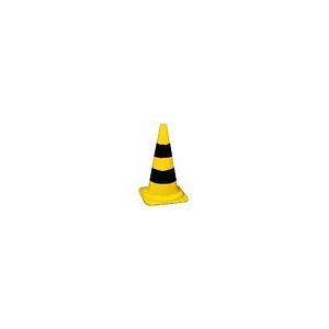 Cone em PVC flexivel aborrachado com 50 cms amarelo/preto