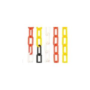 Corrente plastica amarelo/preto 8mm p/sinalizaçao(Saco 25mt)