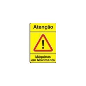"""Sinal Rod \""""Atenção-Maquinas em Movimento\"""", Dim:0.90*0.60m"""