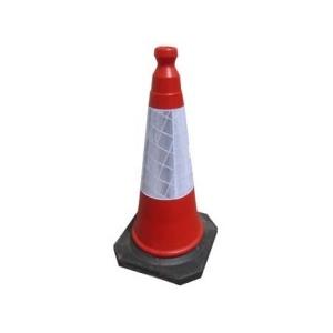 Cone 46 cms pesado c/manga reflectora certificado p/EN 13422