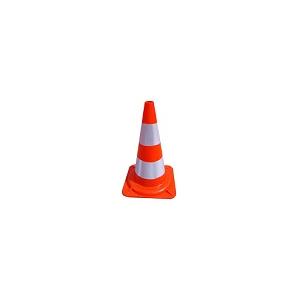 Cone em PVC Flexivel 50cm c/ 2 telas reflectoras prismáticas