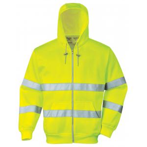 Sweat-Shirt c/capuz de alta visibilidade em Amarelo apenas.