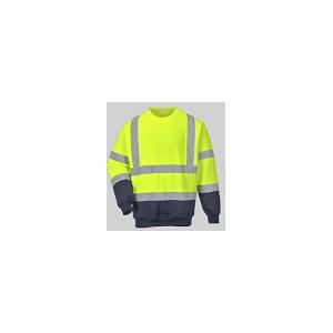 Sweat shirt bicolor de A.V. 65% Poliéster 35% algodão,300grs