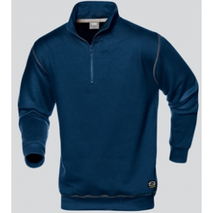 Sweatshirt 50% algodão/50% poliéster,280 g c/ fecho cor Azul