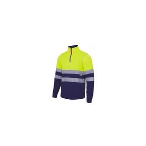 Sweat-Shirt de alta visibilidade com fecho-ecler