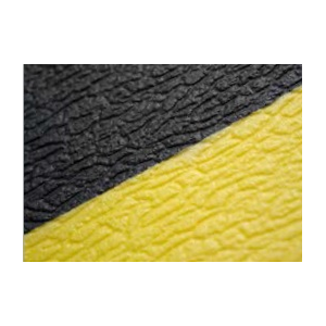 Tapete anti-fadiga em PVC 9 mm alt x 18.3 mt Preto/Amarelo