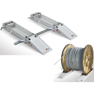 Calços desenroladores de cabos (par) c/barra estabilizadora