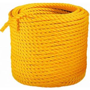 Corda Isolante H.TET/MT 12mm cor amarelo, rolo de 200mts