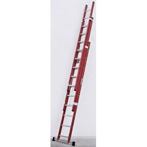 Escada Isolante Dupla Extensivel 2x4 m em fibra vidro