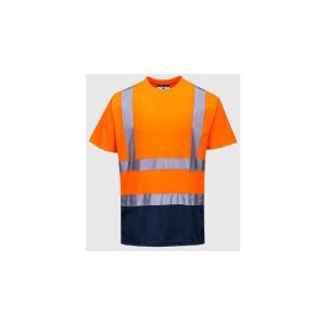 T-Shirt Bicolor de A.V 100% Poliéster olho de pássaro, 150g