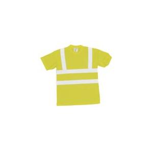 T-Shirt alta visibilidade c/faixas reflect. cert EN 471