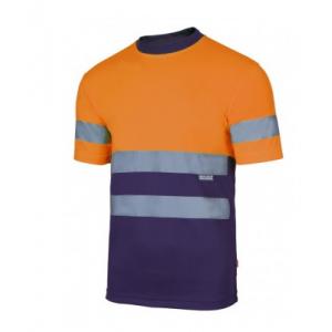 T-shirt técnica bicolor de alta visibilidade, 100% poliester