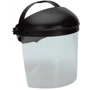 Viseira policarbonato transparente c/arnês incl. 320x190 mm.