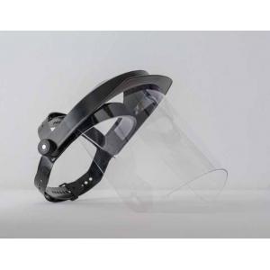 Viseira de proteção com arnês 20 cm. em policarbonato CE EN
