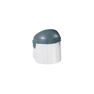 Suporte de cabeça com viseira integrada e aperto de roda